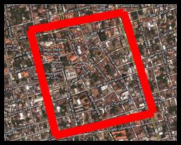 Santa Ana de Coro, Municipio Miranda Coro- Edo Falcón. Foto Satelital tomada y editada desde Google MapMaker