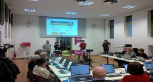 Foto: Café de Experiencia Tecnológica (TEC) organizado en Turín por SIforAGE (Febrero de 2014)