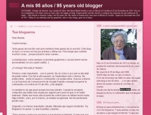 Blog A mis 95 años