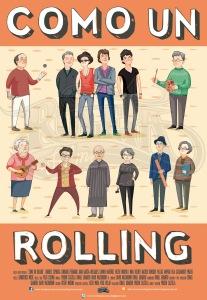 """Poster promocional """"Como un rolling"""" http://comounrolling.es/descargas/"""